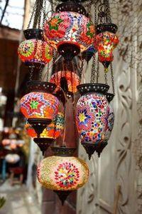 ethnic style lamps.