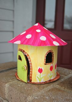 """""""Mini houses - I plan on making Chloe a fairy house or maybe even a little forest of them!"""" Very Waldorf:)"""