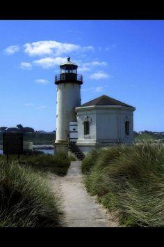 Old Lighthouse in Bandon, Oregon