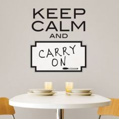 WallPops Keep Calm Dry Erase Wall Decals
