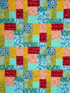 Free Beginner Quilt Patterns to Print   ... Lap Quilt - Easy Block Quilt Pattern - Patch Envy Lap QUILT PATTERN