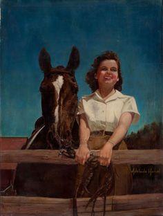 American Art - Adelaide Hiebel: Sweetheart of the Range - 1941 from americanart on Ruby Lane
