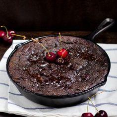Chocolate Cherry Pudding Cake (GF)