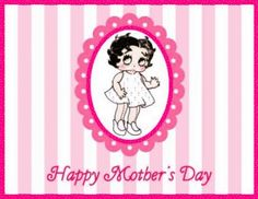 For more Mother's Day Betty Boop greetings, go to: http://bettybooppicturesarchive.blogspot.com/search/label/Mother%27s%20Day - Happy Mother's Day with Baby #BettyBoop