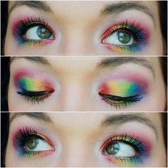 costum makeup, eye makeup, clown doll, agap, rainbows