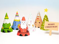Printable Christmas Decorations | Santa & Co paper dolls | Mr Printables