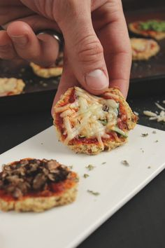 Mini Cauliflower Crust Pizza Bites