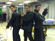 OUAT behind the scenes! Bromance in the making Colin O'donoghue, Sean McGuire, and Josh Dallas as Charlie's Angels