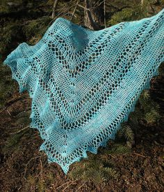 Neptune's Tears Shawl: free pattern. Just stunning, thanks for sharing with us xox