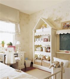 Neutral girls bedroom