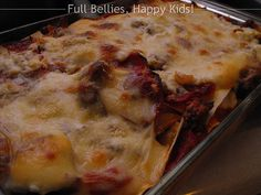 Trisha Yearwood's Cowboy Lasagna with ground beef and sausage and pepperoni