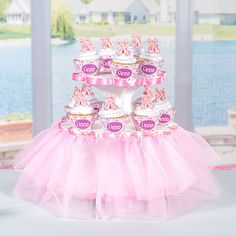 This DIY #Ballerina Cupcake Stand is tu tu much fun! Create a custom cupcake stand for your little ballerina's party with our DIY Ballerina Cupcake Stand.