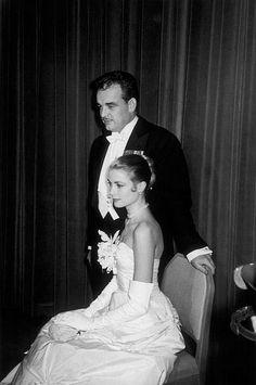 Grace Kelly and Prince Rainier of Monaco at the Waldorf-Astoria hotel, photo by Elliot Erwitt, 1956