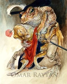 Pirate toads dancing the tango. Can't get more romantic than that! By Omar Rayyan