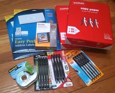 How to get common office and schools supplies FREE at Staples.