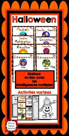 Halloween - Activités variées pour chacune des intelligences multiples.