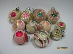 Shiny and bright vintage ornaments