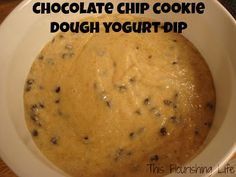 Chocolate Chip Cookie Dough Yogurt Dip using @Lucie Cheyer's Red Mill Almond Flour