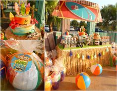 Beach Bash Birthday Party - Pretty My Party - Teen Beach Movie Inspired Party! #teen #beach #movie #party #ideas