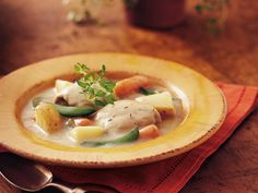 Slow Cooker Creamy Herbed Chicken Stew (Cooking for 2)