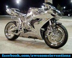 Yamaha R1 - Chrome.   wow wtf I want this now