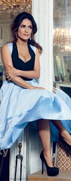 dress, salma hayek style, style icons, lucky magazine, lucki magazin