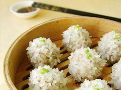 Bolas de Arroz.  Comida tradicional china.