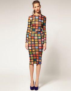 #Crochet maxi dress by House of Holland via @sarah_london