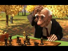 Use a Pixar short like Geri's Game as a starting point for creative writing, including descriptive language, dialogue, and a simple plot/ capturing one moment in time