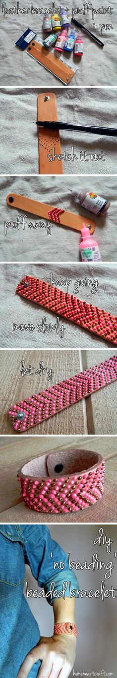 """Simple Adorable Beadless """"beaded"""" Bracelet !!! ❤️ J cld make these for her friends!  So cute!!!"""