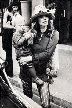Anita Pallenberg with Marlon