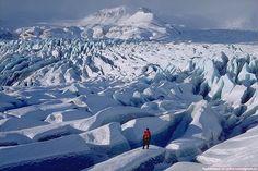 Vatnajokull, largest glacier in Europe