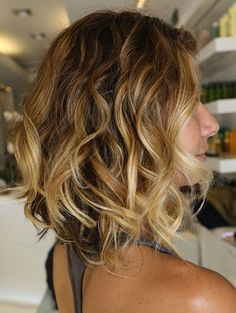 Beautiful Color and Curly Beachy Hair  by Johnny Ramirez aka Fiona's hair lol yes so glad to have natural curls love then:)