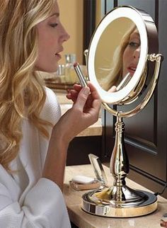 The LED Touch Light Vanity Mirror helps you ready yourself easily and shines just the right amount of light on your face to ensure you look your best.