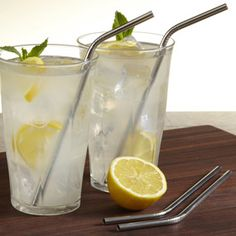 Stainless Steel Drinking Straws at CHEFS......instead of plastic!