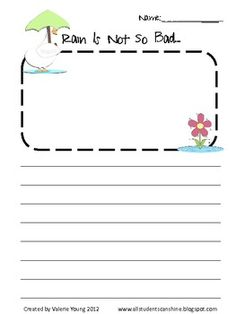 A couple of cute writing prompts for the month of April!These are a great addition to my SPRING UNITS...