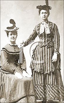 iCLIPART - Royalty Free Photo of Two Victorian Women