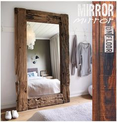 Bold and rustic mirror - I NEED THIS!!