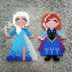 Elsa and Anna - Frozen hama beads by eleanorpartridge