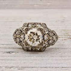 1 carat Old European Cut Diamond Engagement by ErstwhileJewelry, $9000.00