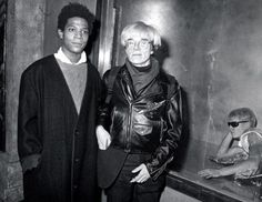 Friends, collaborators and great artists: Jean-Michel Basquiat and Andy Warhol. (Ron Galella/WireImage/Getty Images)