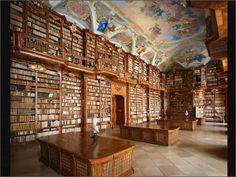 Biblioteca de la abadía de Saint-Florian (Austria).