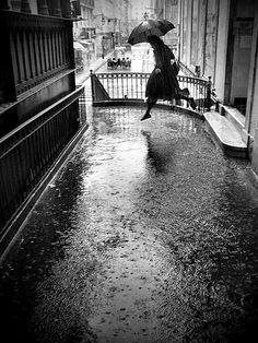 Jumping in the rain puddles