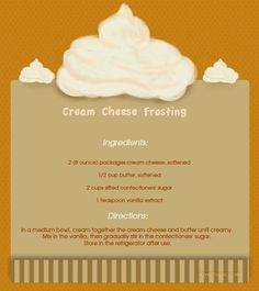 Cream  Cheese Frosting sweet yummy cheese dessert delicious frosting cream recipe recipes easy recipes easy cream cheese