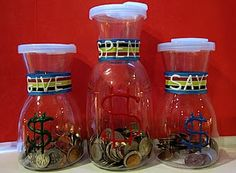 Save, Spend, Give DIY Jars