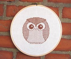 hoop embroideri owl, owl embroideri, stitch owl, crossstitch, awesom embroideri, diy craft, cross stitches, embroidery, owls