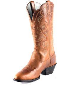 ***Women's Heritage Western R Toe Boot - Russet Rebel