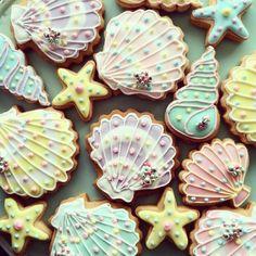 sea shell cookies