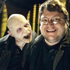 Guillermo del Toro, just chillin' with a vampire...