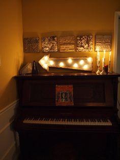 light fixture lamp metal sign hotel arrow barn wood & metal wedding handmade Industrial rust :: Awesome!